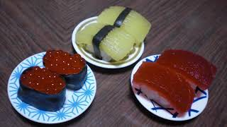 getlinkyoutube.com-popin cookin #3 - Sushi Shaped Candy (grape flavor)