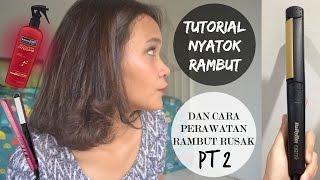 getlinkyoutube.com-Tutorial Nyatok Rambut&Perawatan Rambut Rusak/Tutorial Curly For Damage Hair (Bahasa)│Dinda Shafay