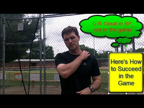 Baseball Batting Practice: How to Hit a Baseball HARD in the Game