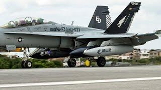 getlinkyoutube.com-普天間基地 F/A-18がアレスティング・ワイヤーで緊急着陸訓練