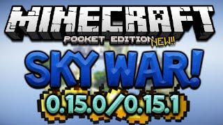 getlinkyoutube.com-NEW MCPE 0.15.0 SKYWARS SERVER!! - Minecraft Pocket Edition Official LEET Server (Minecraft PE)