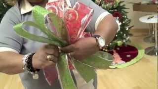 getlinkyoutube.com-Taller de Decoración en Casa Febus: Cómo hacer un lazo o moño de Navidad