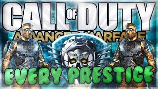 getlinkyoutube.com-PS4 CoD AW: All Prestiges 1-15 Montage (Rewards, Master Prestige Showcase, 'Combat Report')
