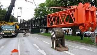 getlinkyoutube.com-Brückenschlag 2012: Liebherr LG1550 bei Brückenmontagen in der Saarlandstr., Teil 4