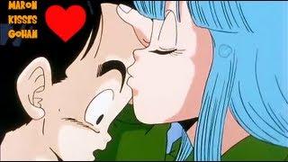 getlinkyoutube.com-Gohan gets his First Kiss from Maron as Krillin gets Jealous