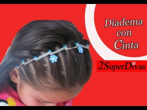 Tutorial peinado Diadema decorada con Cinta Ideal para Niña