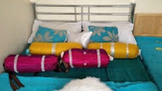 DIY Bolster cushion and its cover on a low budget