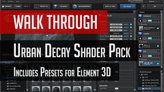 getlinkyoutube.com-Element 3D - Urban Decay Shader Pack Walk Through Tutorial