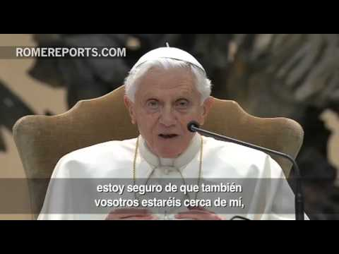 Benedicto XVI dice que 