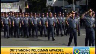 Solar TV News -Country's Outstanding Policeman in Service (COPS) 2012 , Robert Fabregas