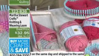 getlinkyoutube.com-Knitting and Weaving Loom from Martha Stewart Crafts