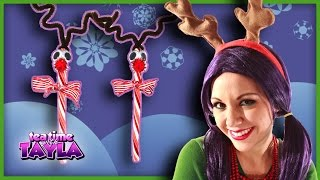 Candy Cane Reindeer - Christmas Crafts for Children