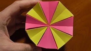 getlinkyoutube.com-Волшебный круг из бумаги - ОРИГАМИ