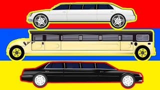 getlinkyoutube.com-Street Vehicles - Limousine Toy Garage - Learn transport - Cars and trucks - Video For Children