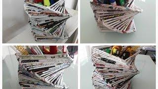 getlinkyoutube.com-DIY Room or Home Decoration / Recycled Old Magazine