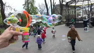 getlinkyoutube.com-Пузыри мыльные пускаем из пистолета распаковка игрушка bubbles pistol unpacking toy