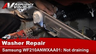getlinkyoutube.com-Samsung Washer diagnostic & Repair  - Will not drain or go into spin cycle