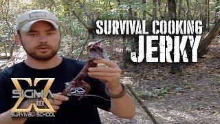 getlinkyoutube.com-Survival Cooking Jerky a squirrel WHOLE!