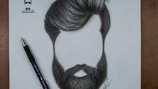 getlinkyoutube.com-كيفية رسم اللحية والشارب للرجل بالرصاص how to draw a beards