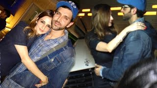 getlinkyoutube.com-All Moments When Hrithik Is Seen Back With Ex Wife Suzanne After Divorce