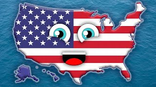 getlinkyoutube.com-50 States Song for Kids/50 States and Capitals for Children/USA 50 States