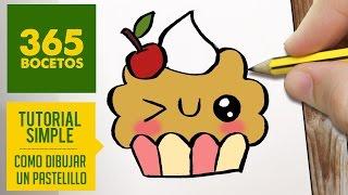 getlinkyoutube.com-COMO DIBUJAR UN CUPCAKE KAWAII PASO A PASO - Dibujos kawaii faciles - How to draw a cupcake
