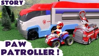 getlinkyoutube.com-Paw Patrol Paw Patroller Toy Unboxing Story | Thomas and Friends Toys Juguetes de Patrulla Canina