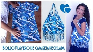 getlinkyoutube.com-Bolso Playero - de Camiseta Reciclada - Tutorial de SANDRA PADILLA