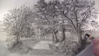 getlinkyoutube.com-How to Draw with Charcoal Pencils - Landscape Sketching