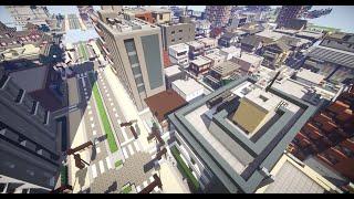 getlinkyoutube.com-【Minecraft】史上最大級の現代都市を作る Part12【ゆっくり実況】