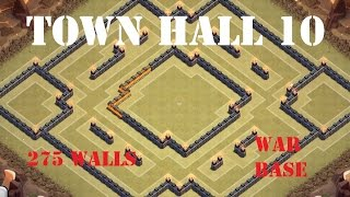 getlinkyoutube.com-CLASH OF CLANS | New Town Hall 10 (TH 10) War Base  - 275 walls