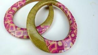 getlinkyoutube.com-Polymer clay tutorial: Spring colored mosaic earrings / オーブン樹脂粘土で作る春色モザイクピアス