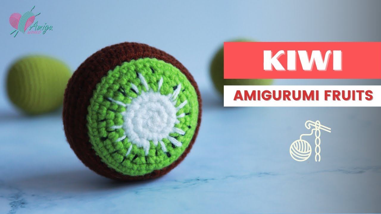 FREE Pattern – Crochet a KIWI amigurumi for beginner