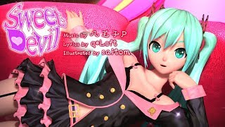 getlinkyoutube.com-[60fps Full風] Sweet Devil - Hatsune Miku 初音ミク Project DIVA Arcade English lyrics Romaji subtitles