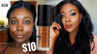 The BEST Dry Skin Foundation?! NEW LA GIRL PRO COVERAGE HD FOUNDATION REVIEW & DEMO 2017