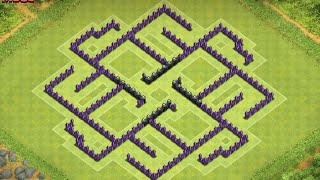 getlinkyoutube.com-NEW TH8 Trophy / Hybrid Base (4 Mortars) After Halloween Update - Clash Of Clans