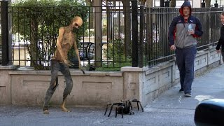 getlinkyoutube.com-Big Spider Attack In The City Prank - 4K (Reality Pranks 4k)