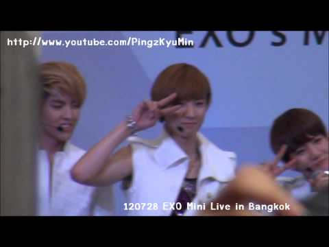 [FANCAM] 120728 EXO Mini Live in Bangkok - Chanyeol & Baekhyun So Cute