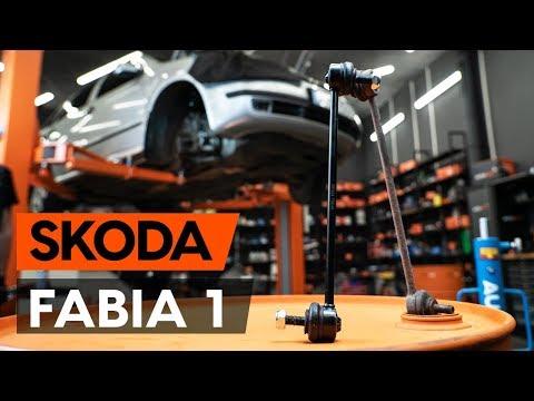 Как заменить тягу стабилизатора передней подвески SKODA FABIA 1 (6Y5) (ВИДЕОУРОК AUTODOC)