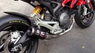getlinkyoutube.com-SC-Project CR-T titanium full system exhaust 2-1 sound for Ducati Monster @ SC-Project Thailand