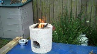getlinkyoutube.com-Rocket Stove Test! Boiling Water