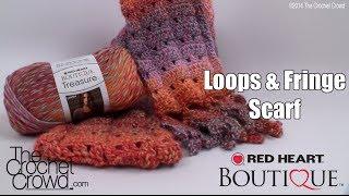 getlinkyoutube.com-Crochet Loops & Fringe Scarf Tutorial