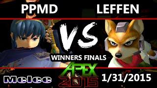 getlinkyoutube.com-Apex 2015 - Leffen (Fox) Vs. PPMD (Marth) - Winners Finals - SSBM
