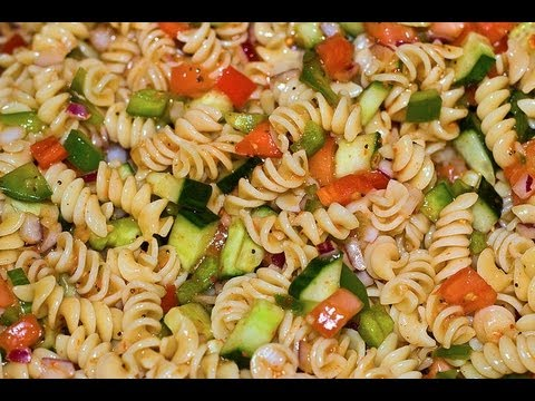 Italian Dressing Pasta Salad - Healthy Dish How to Make Pasta Salad