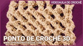 getlinkyoutube.com-Ponto de Crochê 3D - Aprendendo Crochê