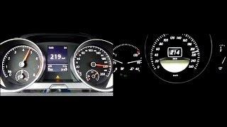 getlinkyoutube.com-2012 VW Golf 7 1.4 TSI (140hp) vs. Mercedes-Benz C 200 CDI (136hp) 0-200 km/h