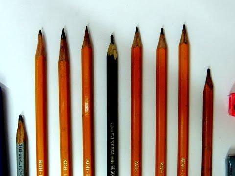 AULA De DESENHO Como Escolher o Lápis Para Desenhar Graduação do Grafite