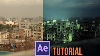 After Effects Tutorial - Realistic Rain scene -