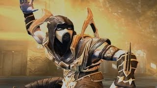 getlinkyoutube.com-Injustice: Gods Among Us - Mortal Kombat Scorpion Super Attack Moves [iPad] [REMASTERED]