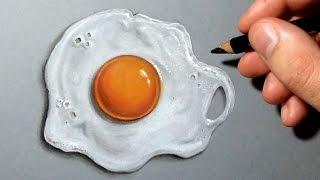 getlinkyoutube.com-Comment dessiner un œuf au plat réaliste [Tutoriel]